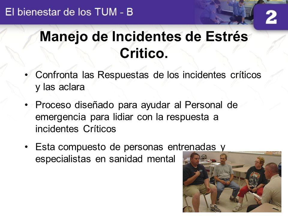 Manejo de Incidentes de Estrés Critico.