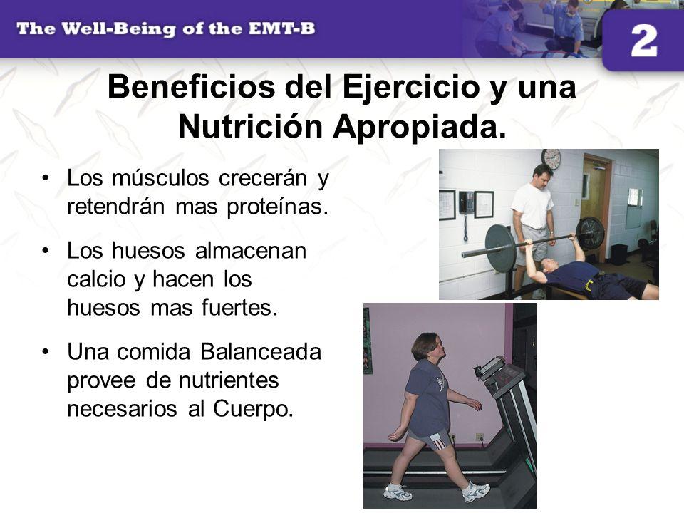 Beneficios del Ejercicio y una Nutrición Apropiada.