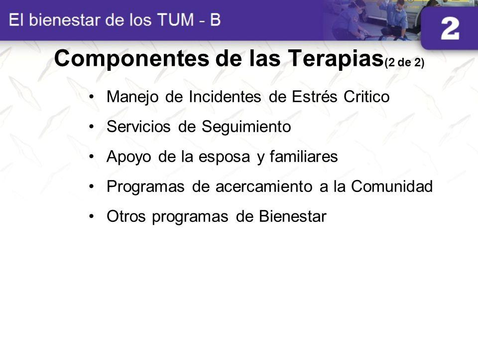 Componentes de las Terapias(2 de 2)