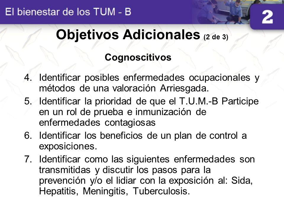 Objetivos Adicionales (2 de 3)