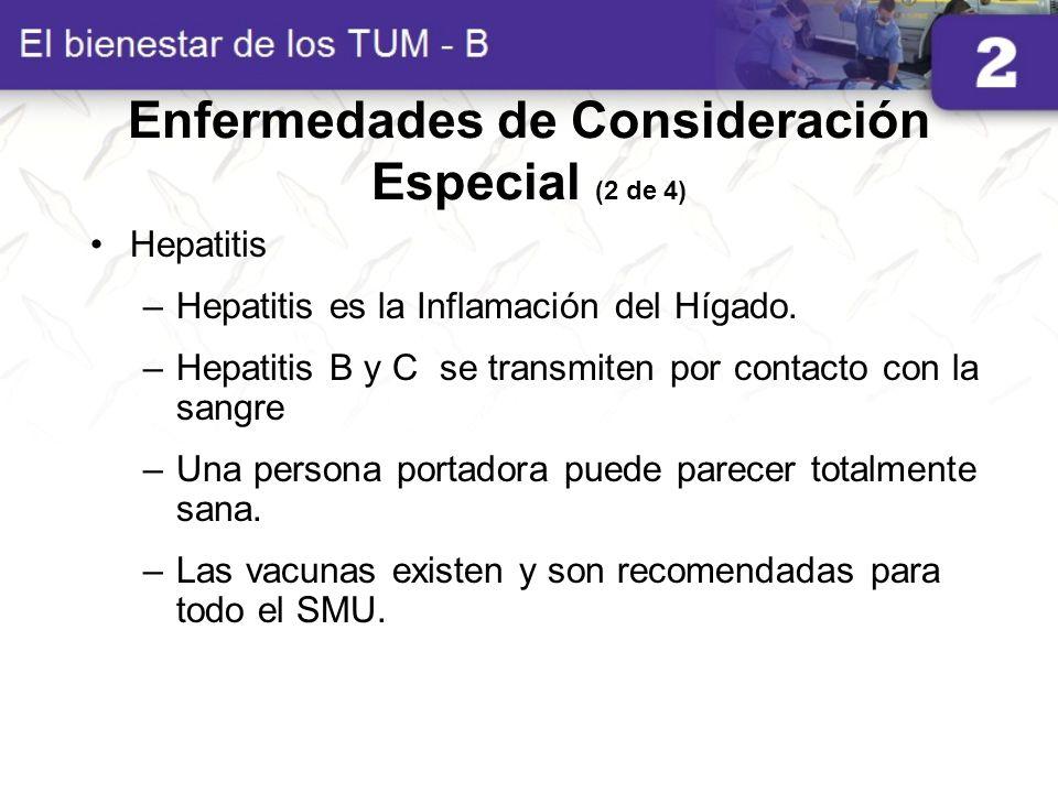 Enfermedades de Consideración Especial (2 de 4)