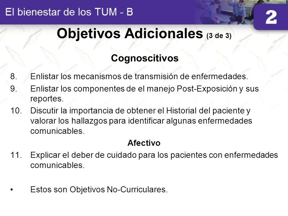 Objetivos Adicionales (3 de 3)