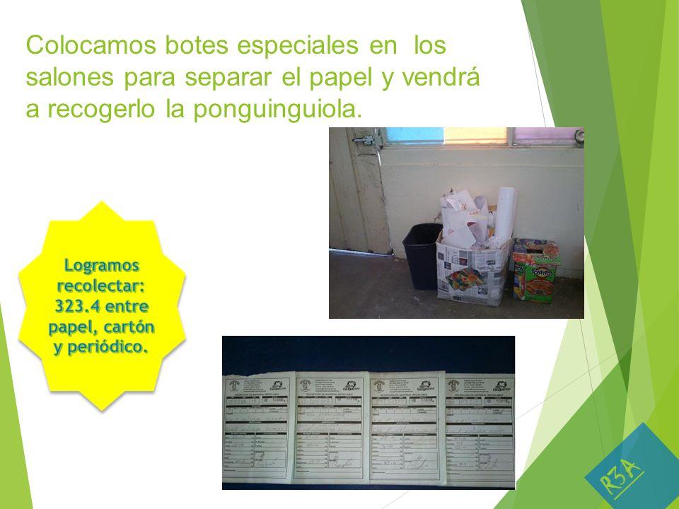 Logramos recolectar: 323.4 entre papel, cartón y periódico.