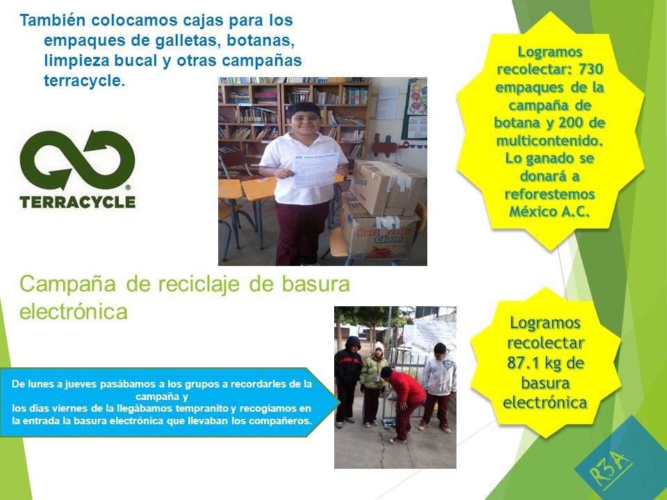Campaña de reciclaje de basura electrónica