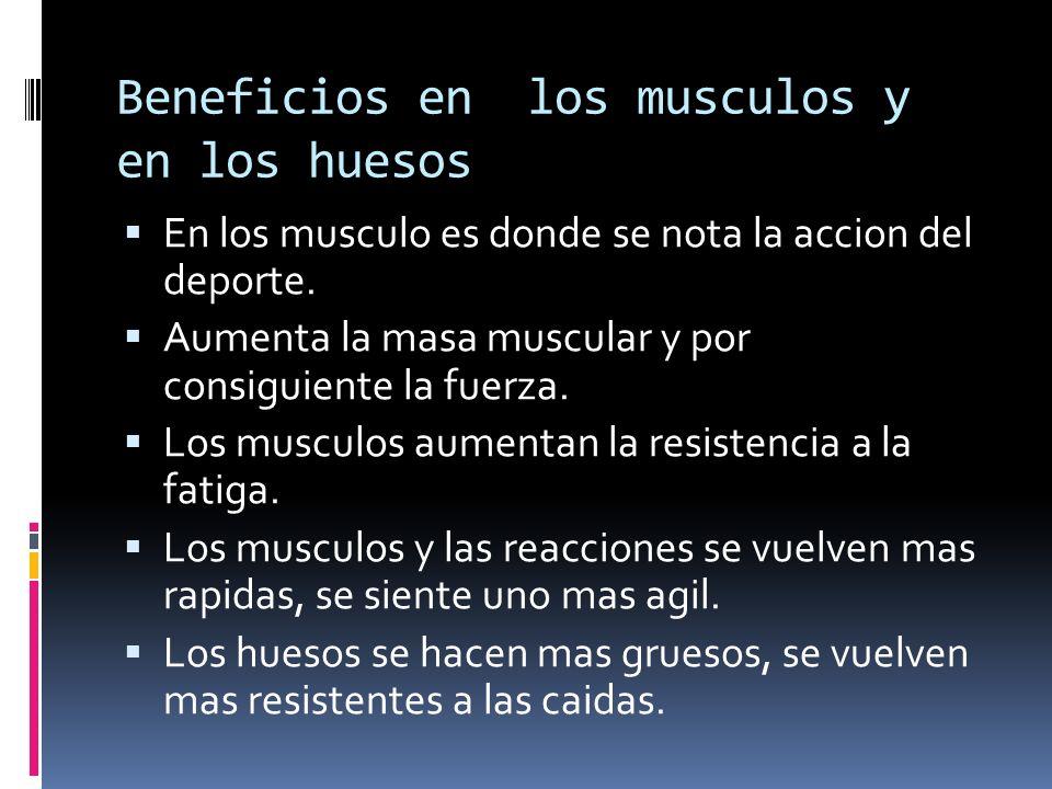 Beneficios en los musculos y en los huesos