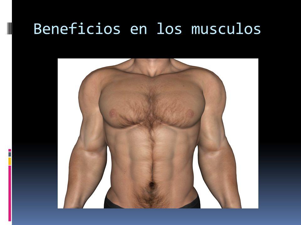 Beneficios en los musculos