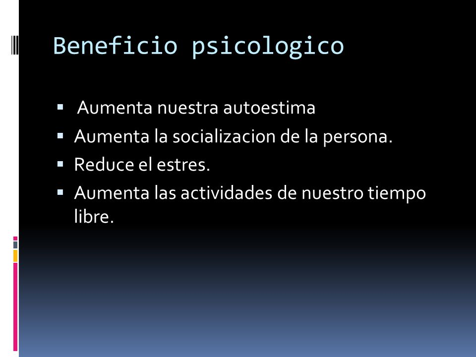 Beneficio psicologico
