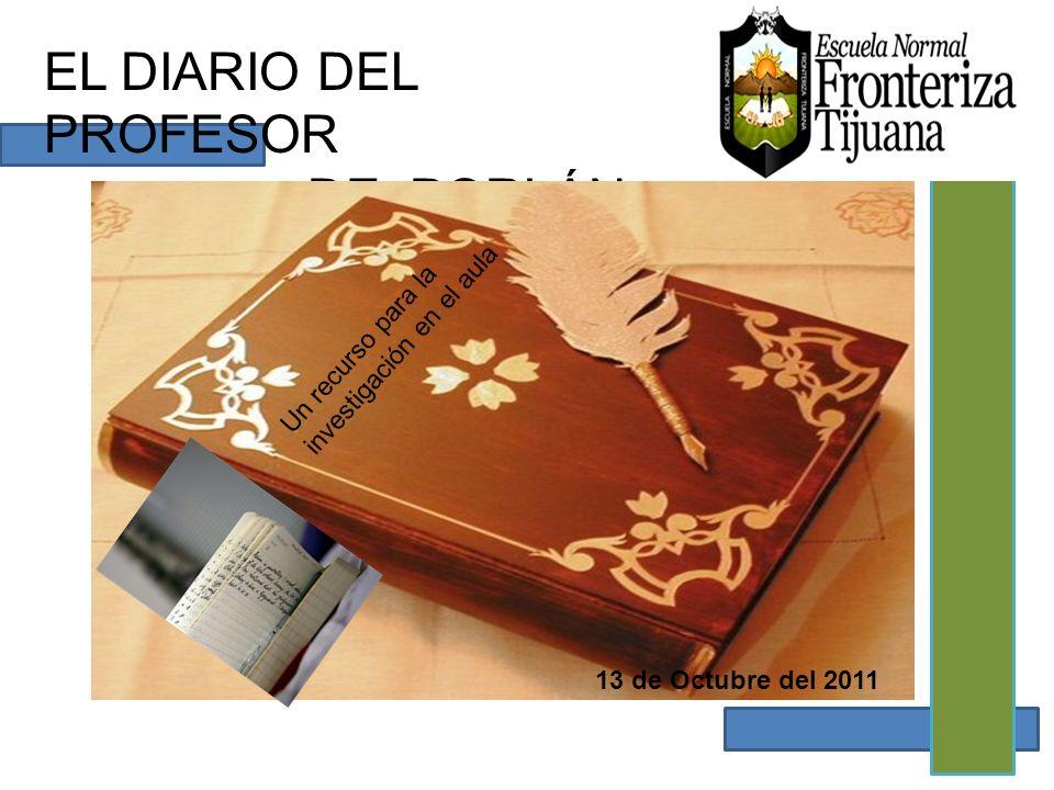 EL DIARIO DEL PROFESOR DE PORLÁN