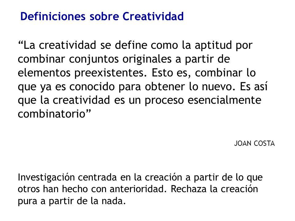 Definiciones sobre Creatividad