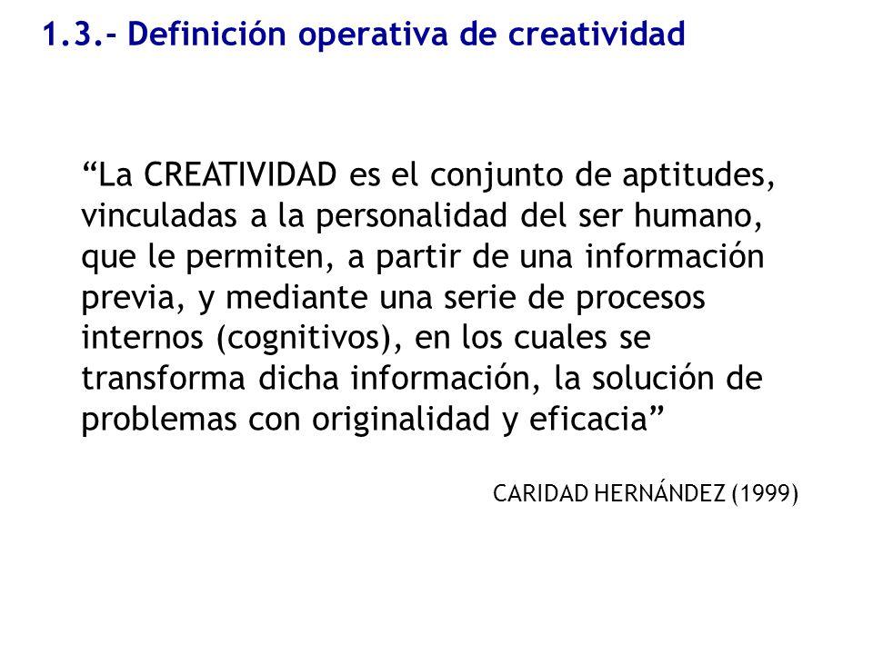 1.3.- Definición operativa de creatividad