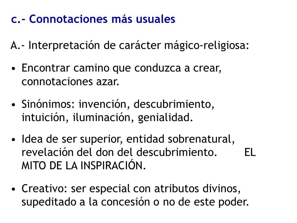 c.- Connotaciones más usuales