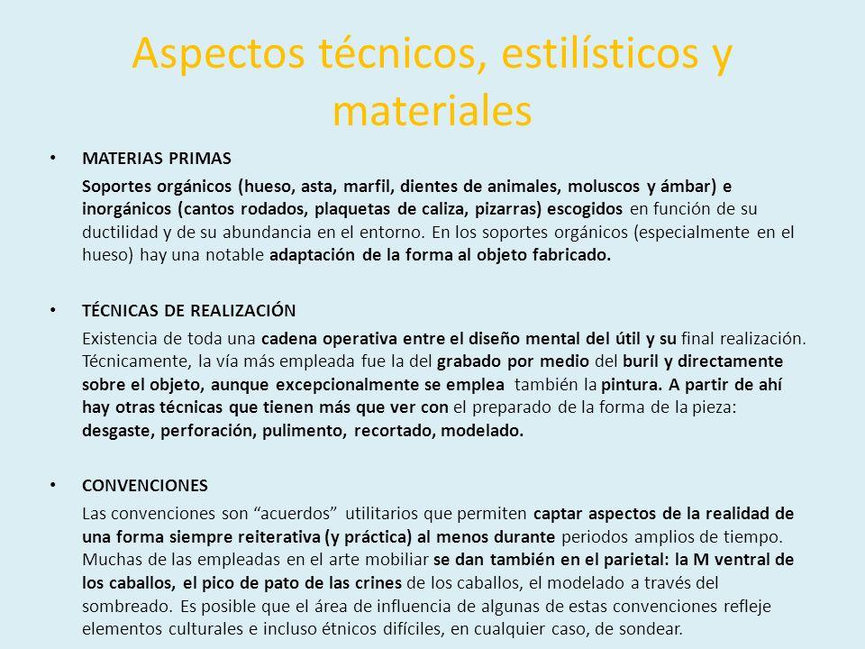 Aspectos técnicos, estilísticos y materiales
