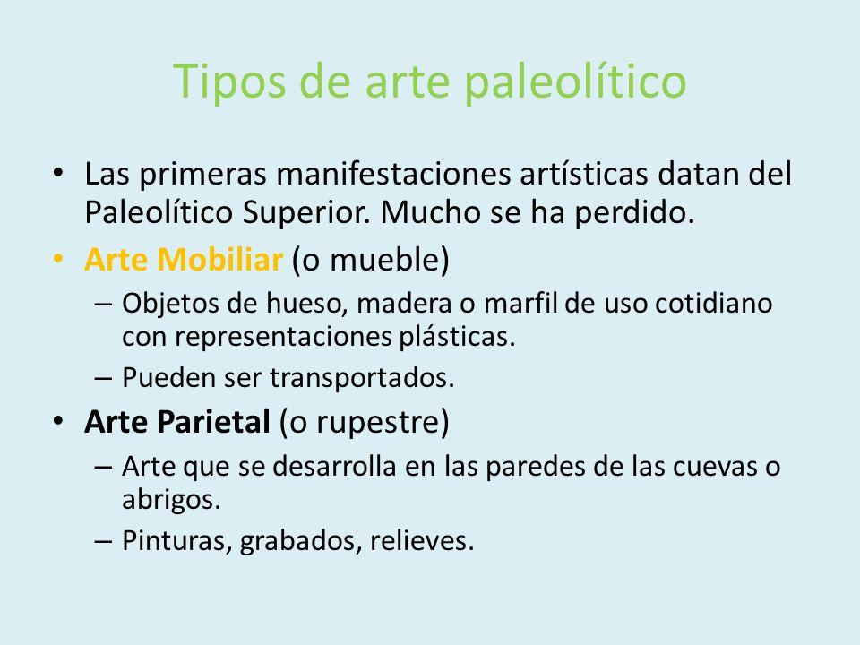 Tipos de arte paleolítico