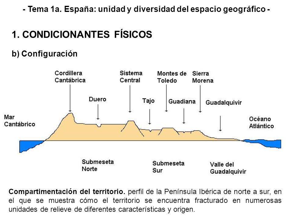 - Tema 1a. España: unidad y diversidad del espacio geográfico -