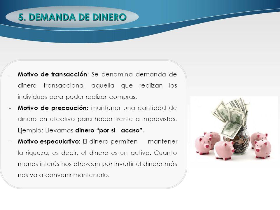 5. DEMANDA DE DINERO