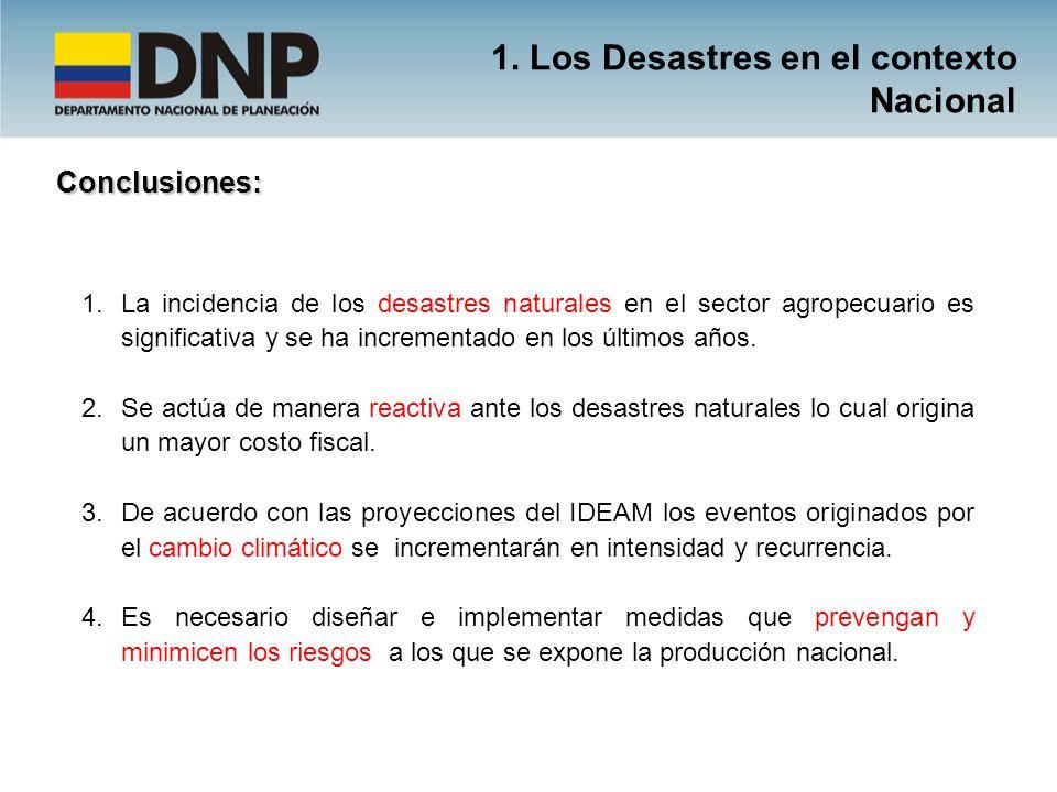 1. Los Desastres en el contexto Nacional
