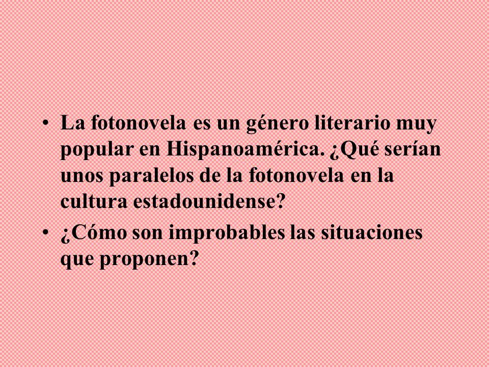 La fotonovela es un género literario muy popular en Hispanoamérica