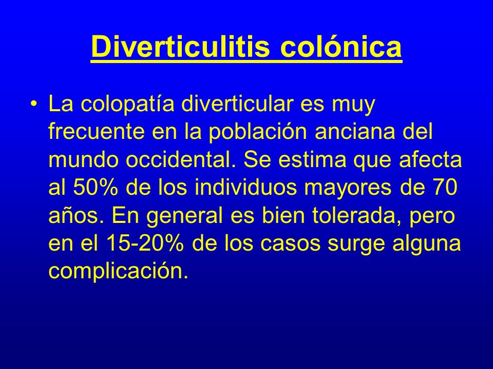 Diverticulitis colónica
