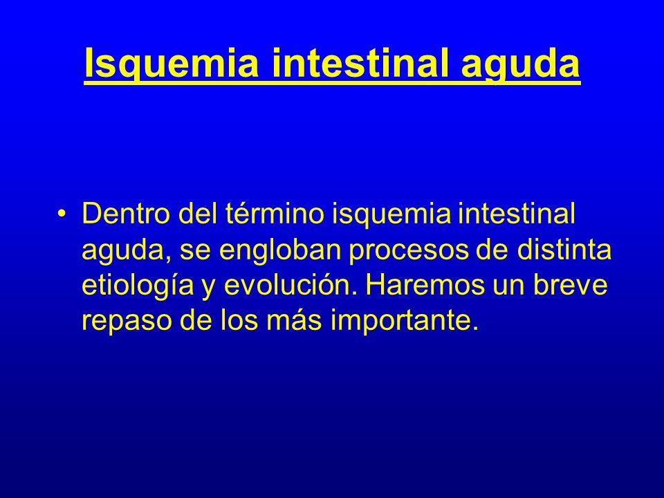 Isquemia intestinal aguda