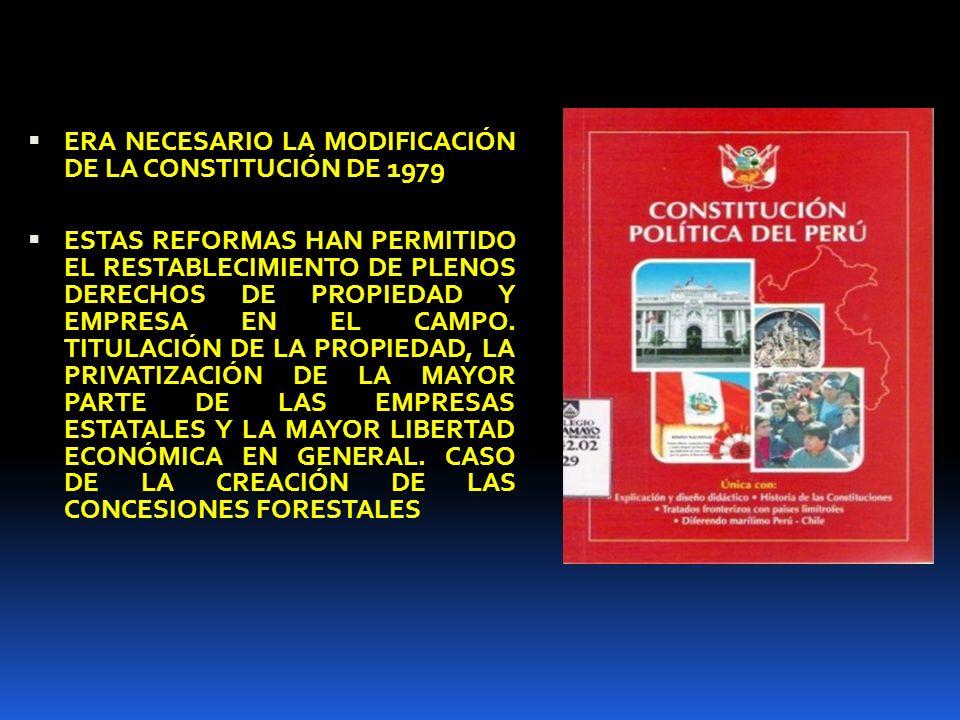 ERA NECESARIO LA MODIFICACIÓN DE LA CONSTITUCIÓN DE 1979