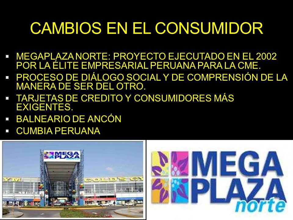 CAMBIOS EN EL CONSUMIDOR