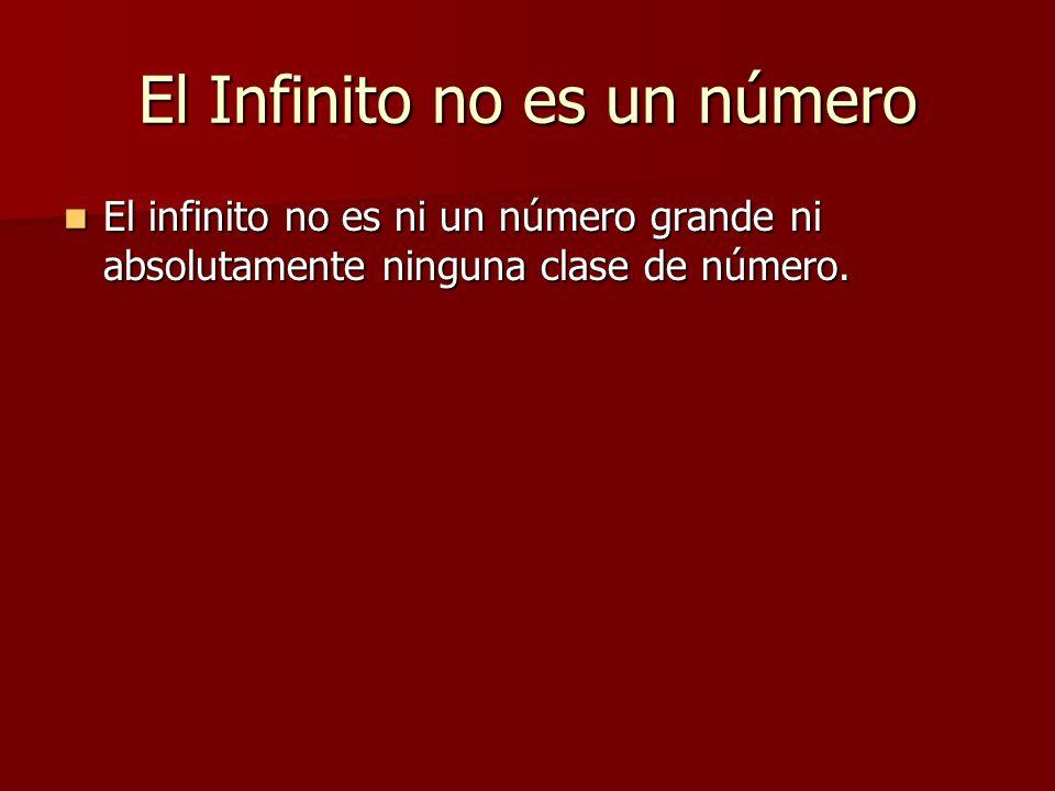 El Infinito no es un número