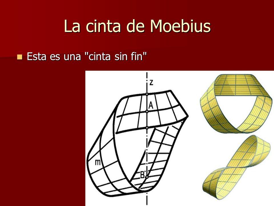 La cinta de Moebius Esta es una cinta sin fin