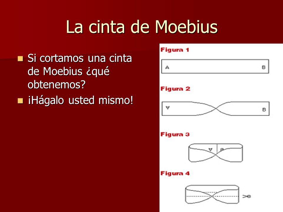 La cinta de Moebius Si cortamos una cinta de Moebius ¿qué obtenemos