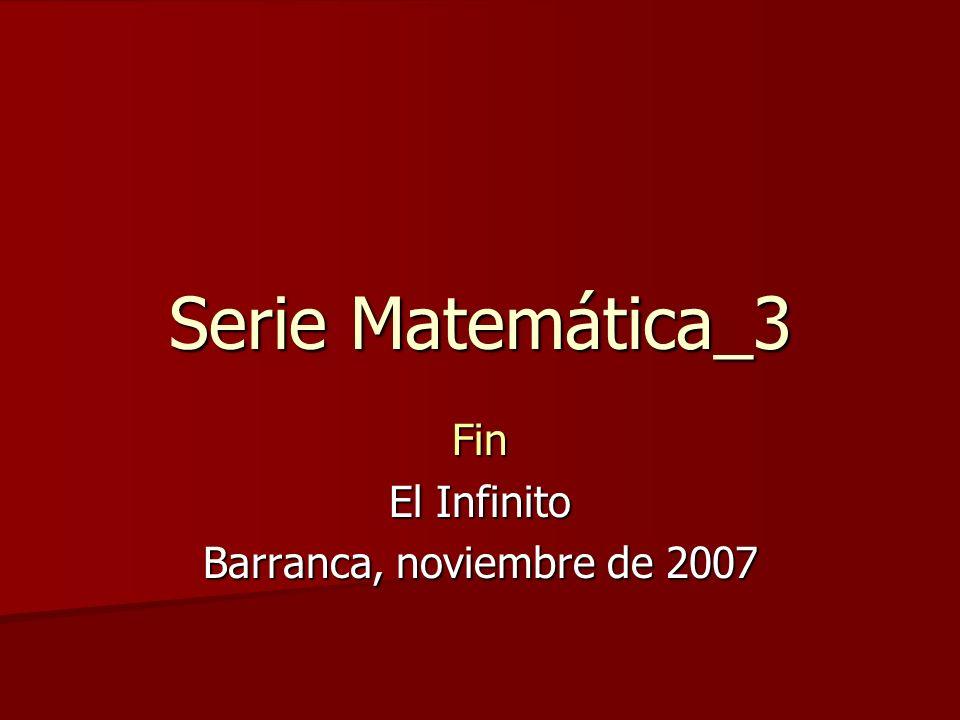 Fin El Infinito Barranca, noviembre de 2007