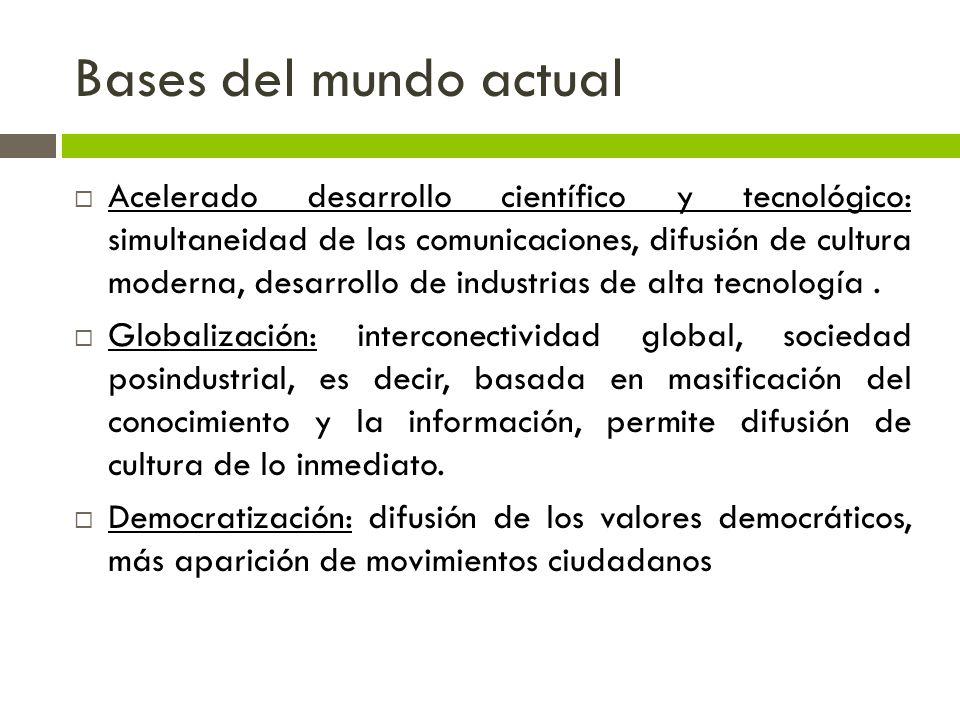 Bases del mundo actual