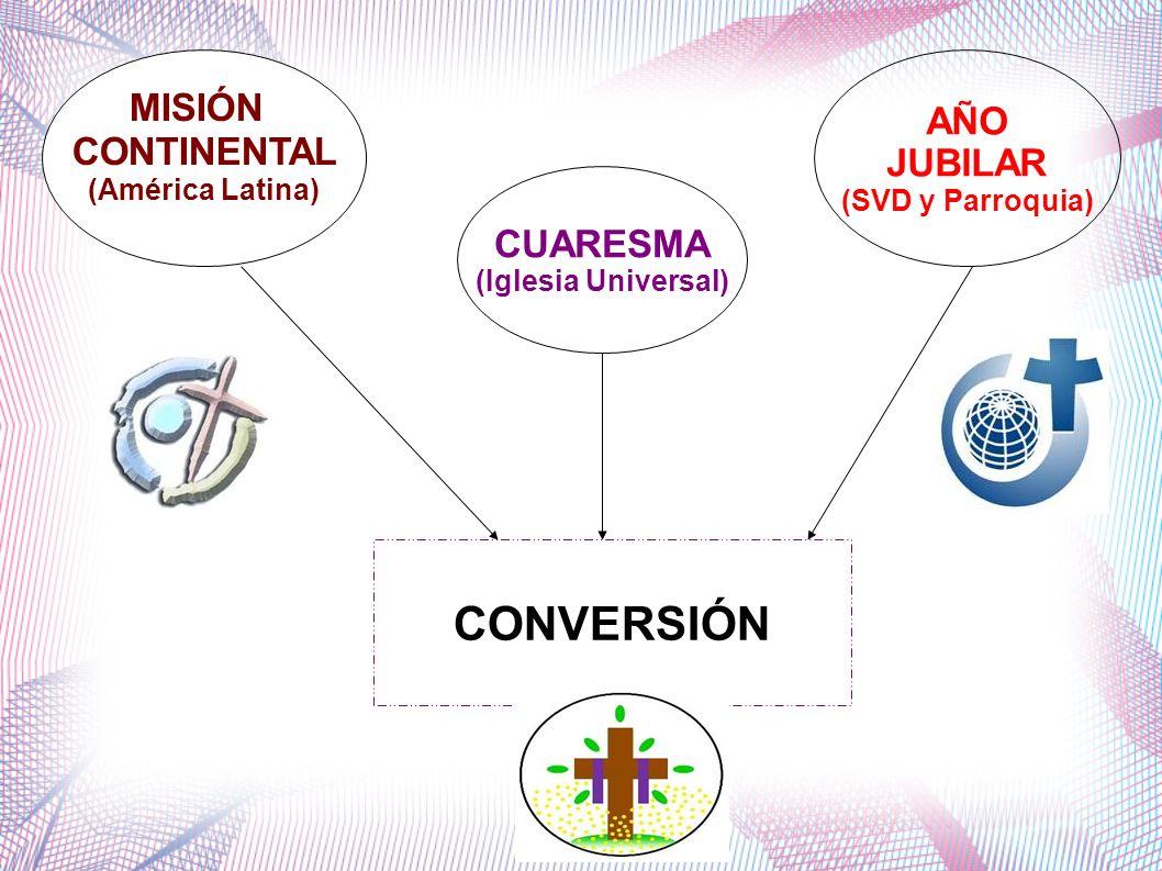CONVERSIÓN MISIÓN AÑO CONTINENTAL JUBILAR CUARESMA (América Latina)