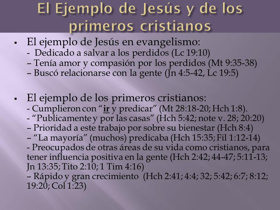 El Ejemplo de Jesús y de los primeros cristianos