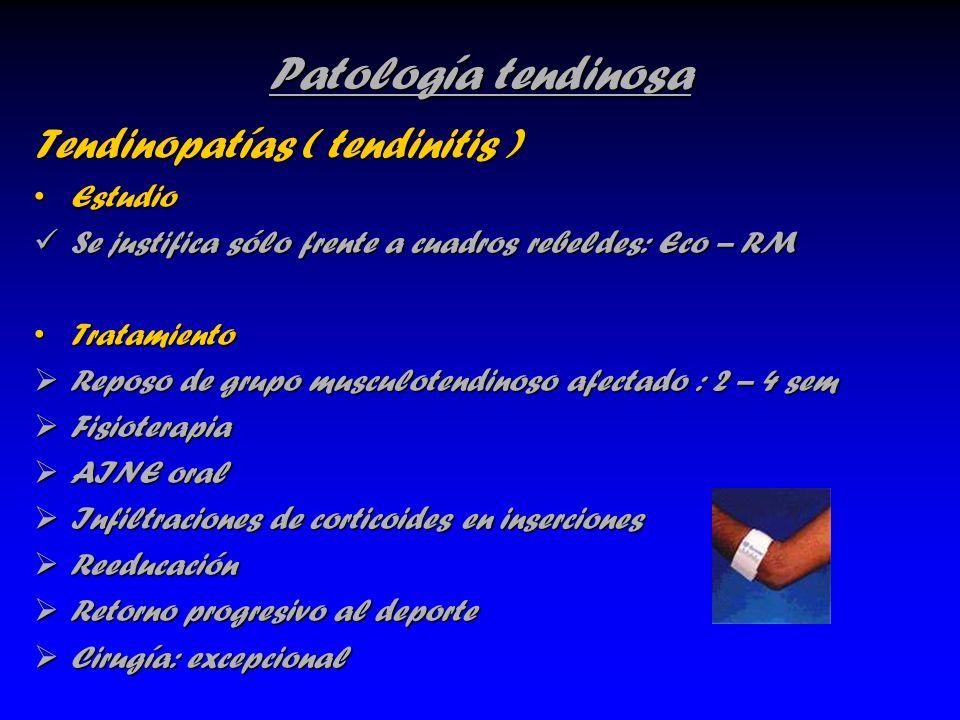 Patología tendinosa Tendinopatías ( tendinitis ) Estudio