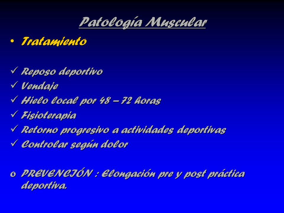 Patología Muscular Tratamiento Reposo deportivo Vendaje