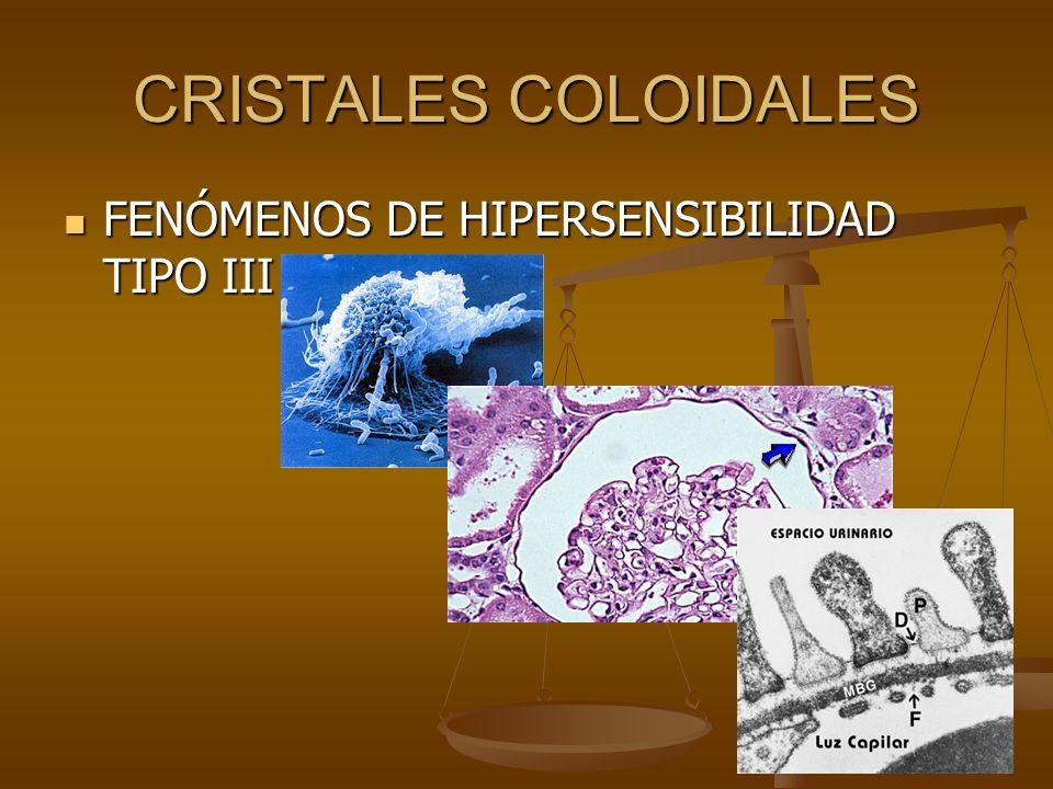 CRISTALES COLOIDALES FENÓMENOS DE HIPERSENSIBILIDAD TIPO III