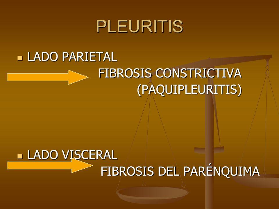 PLEURITIS LADO PARIETAL FIBROSIS CONSTRICTIVA (PAQUIPLEURITIS)
