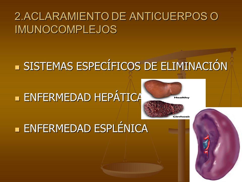 2.ACLARAMIENTO DE ANTICUERPOS O IMUNOCOMPLEJOS
