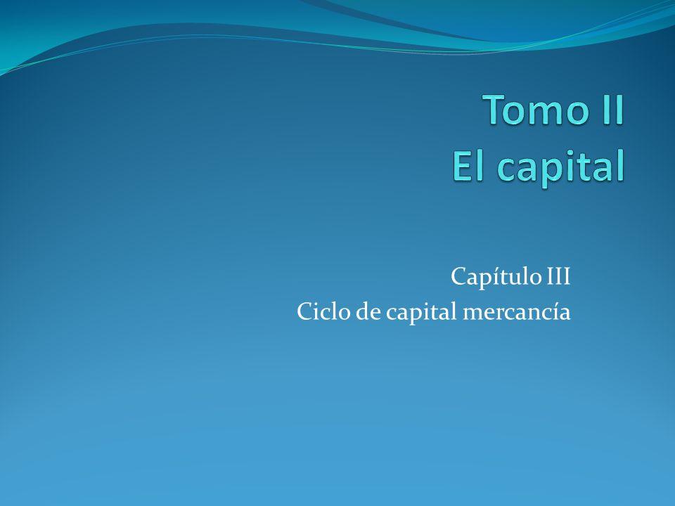 Capítulo III Ciclo de capital mercancía