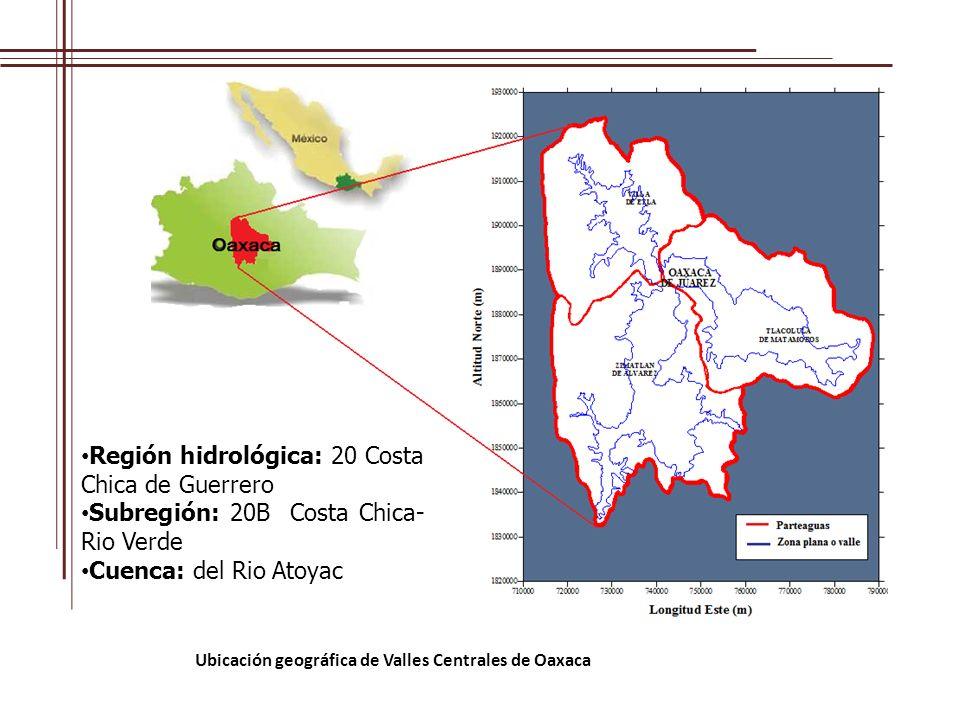 Ubicación geográfica de Valles Centrales de Oaxaca