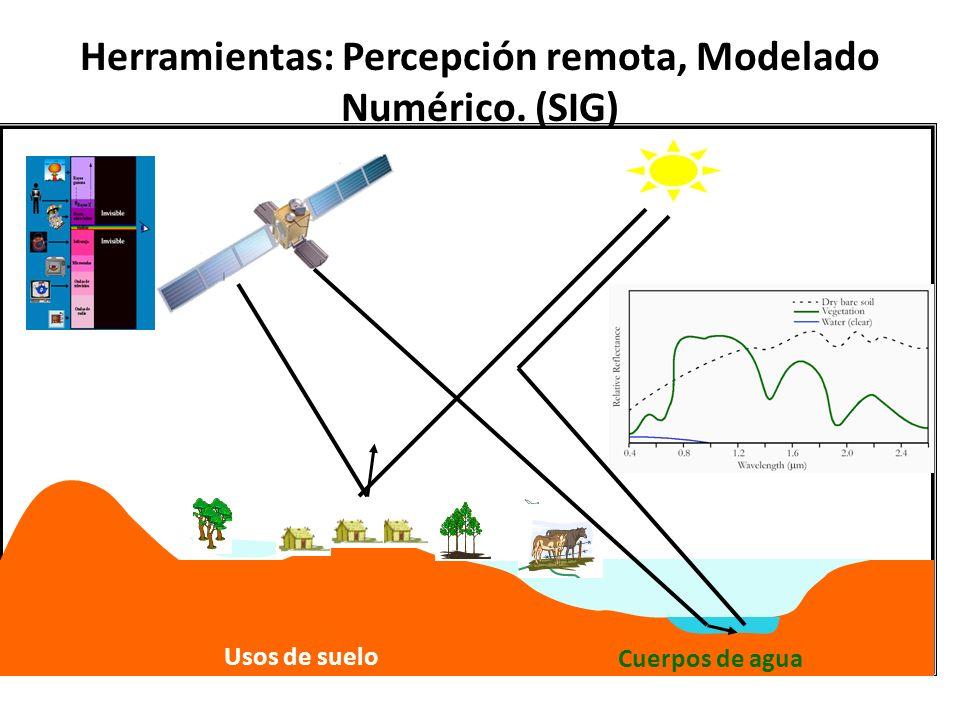 Herramientas: Percepción remota, Modelado Numérico. (SIG)