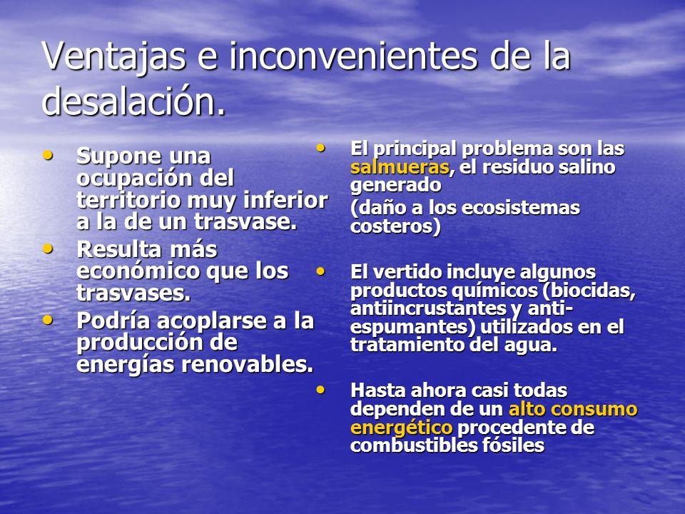 Ventajas e inconvenientes de la desalación.