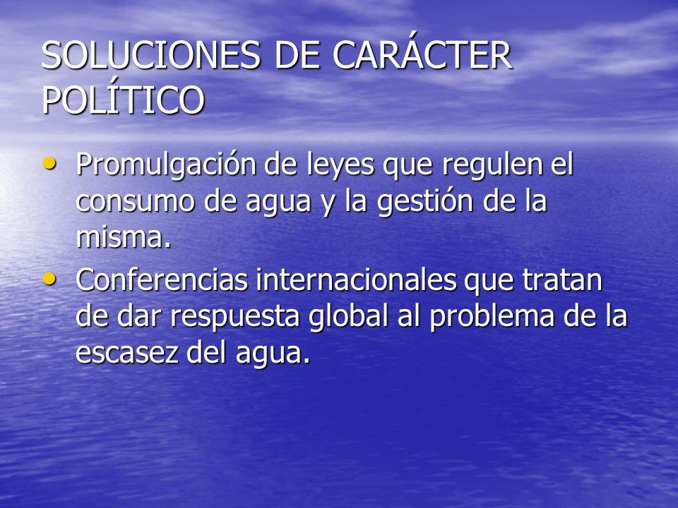 SOLUCIONES DE CARÁCTER POLÍTICO