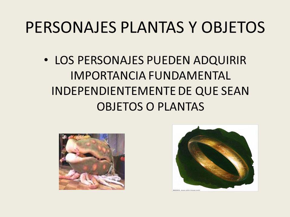 PERSONAJES PLANTAS Y OBJETOS