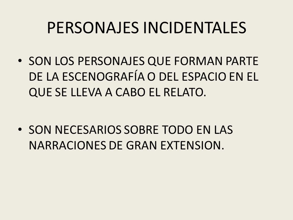 PERSONAJES INCIDENTALES