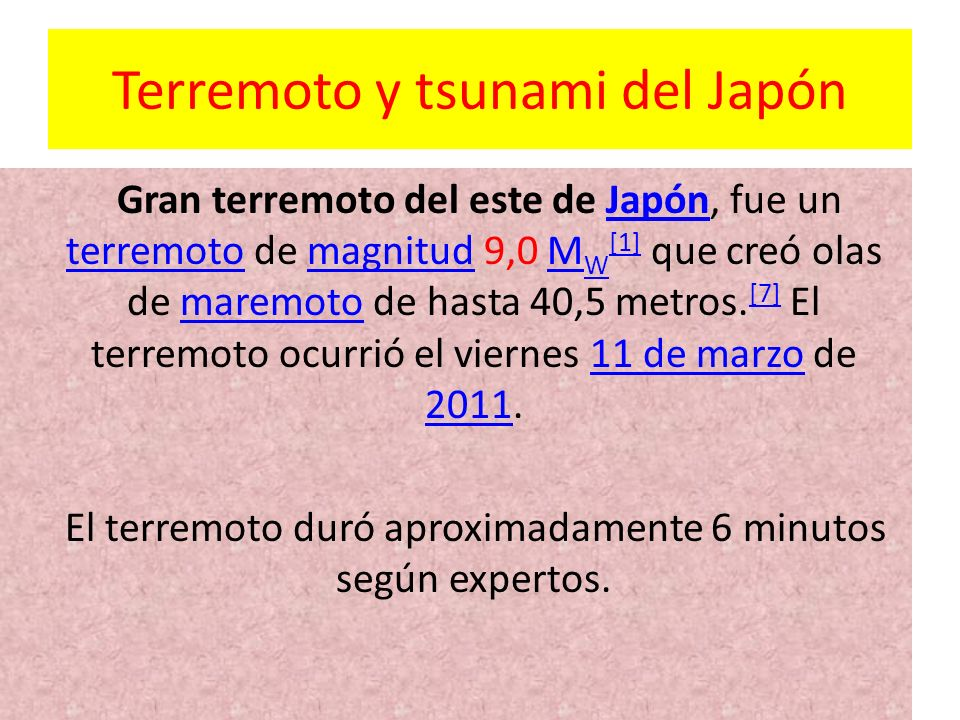 Terremoto y tsunami del Japón