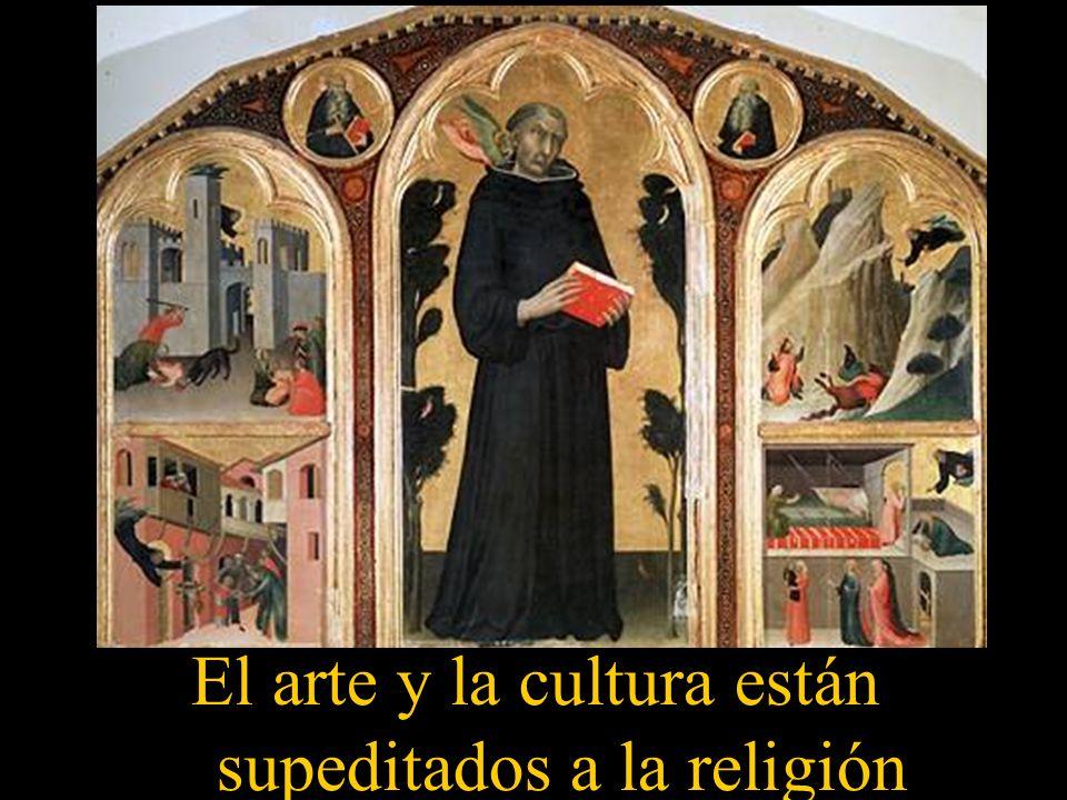 El arte y la cultura están supeditados a la religión