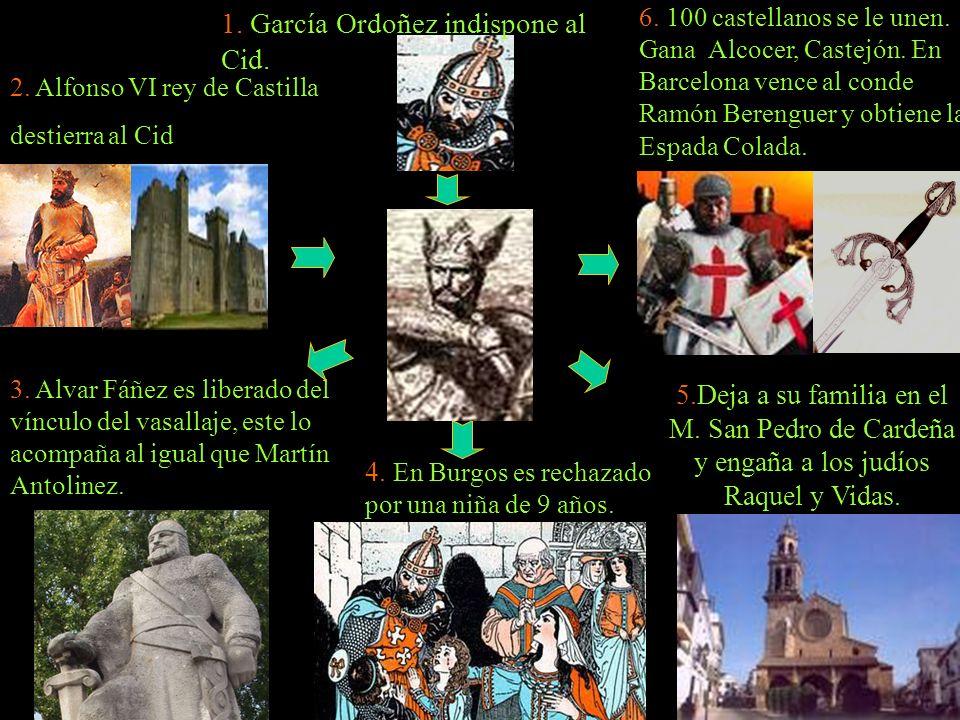 1. García Ordoñez indispone al Cid.