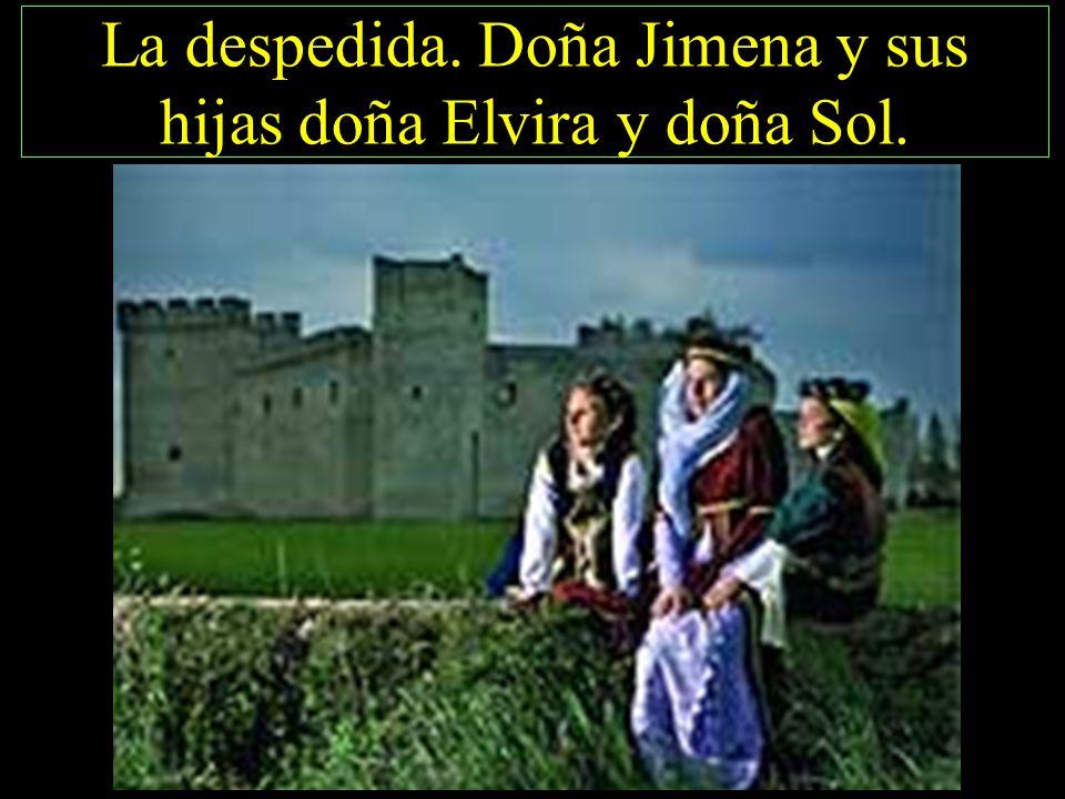 La despedida. Doña Jimena y sus hijas doña Elvira y doña Sol.