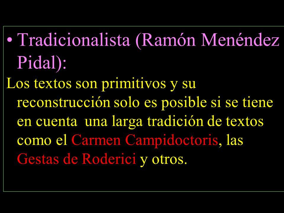 Tradicionalista (Ramón Menéndez Pidal):