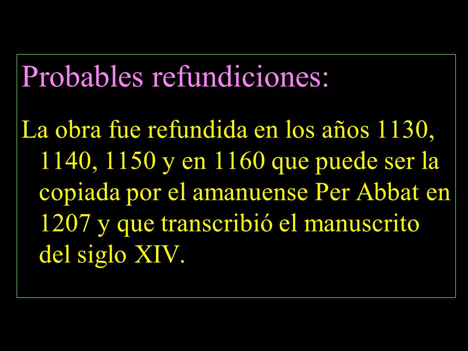 Probables refundiciones: